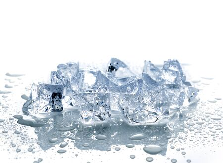 ice cubes with water photo