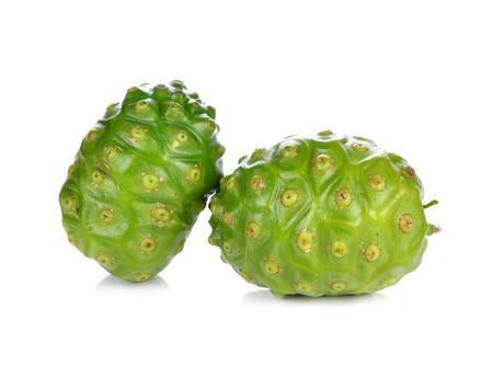 noni: Exotic Fruit - Noni on white background