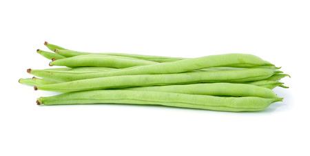 snap bean: green beans on white background Stock Photo
