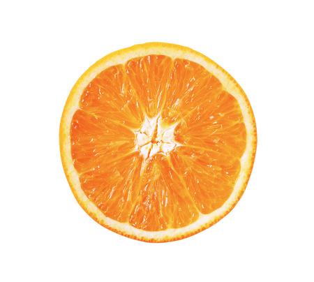 分離されたオレンジ色の果物のスライス 写真素材