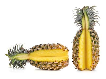 ripe: ripe pineapples isolated on white