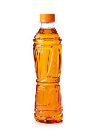 bottle of ice tea on white background Stock Photo