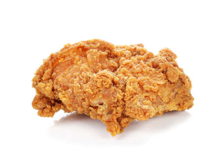 fried chicken isolated on white background photo