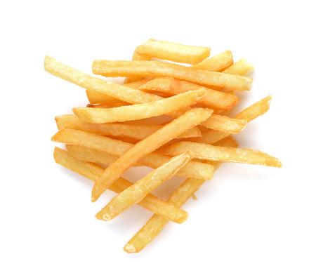 papas fritas: Patatas fritas aislados sobre fondo blanco