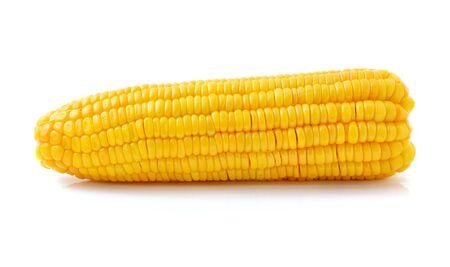 Corn on white background photo