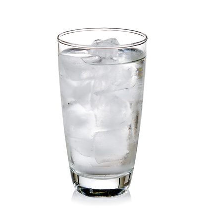 very cold: Glass of very cold water Stock Photo