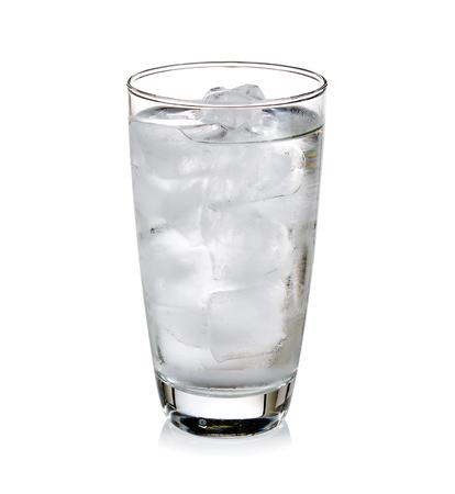 Verre d'eau très froide Banque d'images