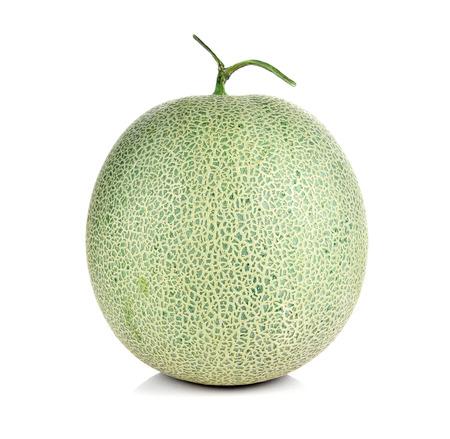 melon fruit: melon fruit on white background. Stock Photo