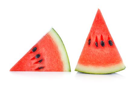 watermelon: Cắt lát dưa hấu chín cô lập trên nền trắng Kho ảnh
