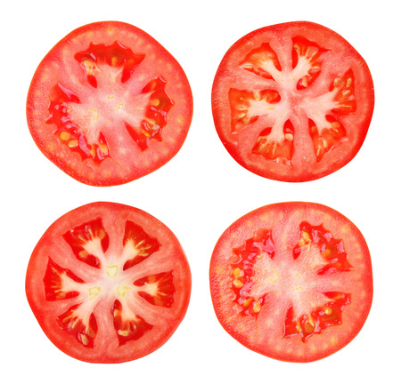 tomato slice: Tomato slice isolated on white background