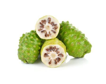 great morinda: Exotic Fruit - Noni on white background
