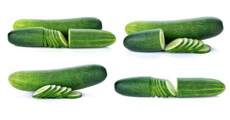 cuke: fresh cucumber isolated on white