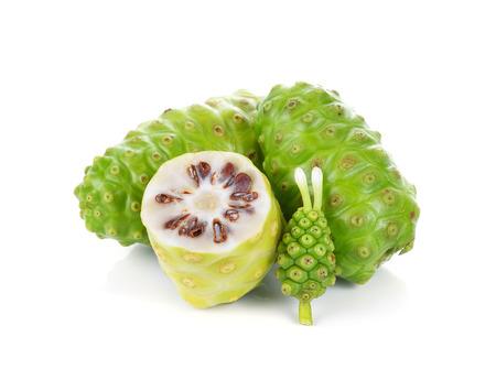 noni fruit: Exotic Fruit - Noni fruit on white background Stock Photo