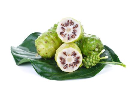 noni: Exotic Fruit - Noni fruit on white background Stock Photo