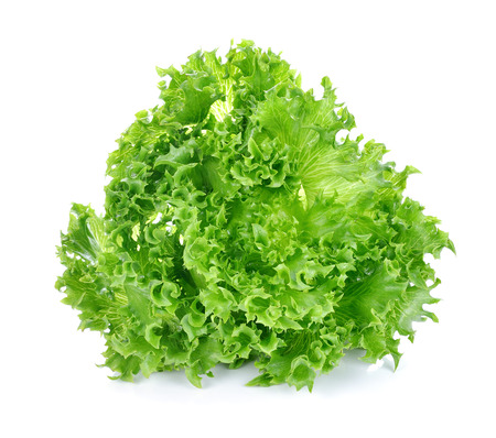 Green lettuce isolated on the white background. Stok Fotoğraf - 45138154
