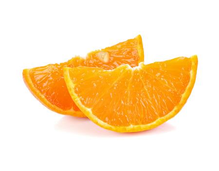 cantle: slice of orange fruit isolated on white Stock Photo