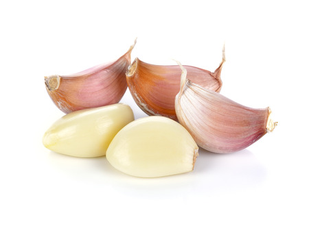 Fresh garlic isolated on white background