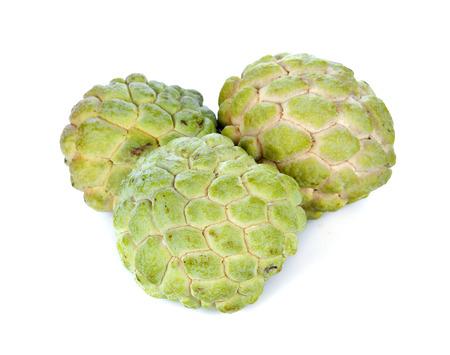 sweetsop: Custard apple isolated on white background Stock Photo