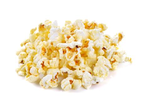 palomitas de maiz: Palomitas de ma?z aislado en el fondo blanco