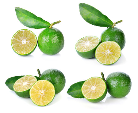 fragrant: Limes isolated on white background