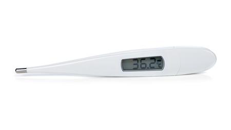 electronic background: Electronic thermometer isolated on white background