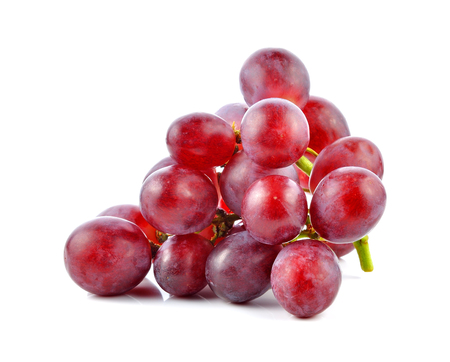 white grape: red grape isolated on white