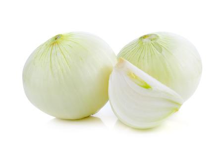 cebolla blanca: white onion isolated on white background