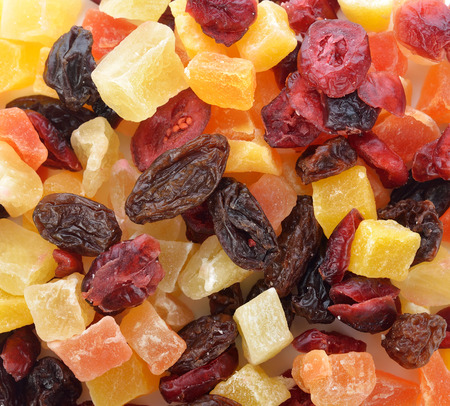 Mix of different dried fruits