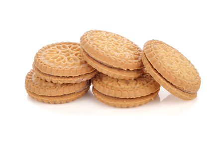 pastry cookies isolated on white background Stock Photo