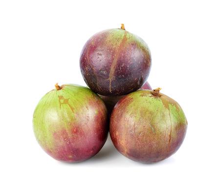 Star Apple, Chrysophyllum Cainito, Northern Thai Fruit, Isolated.