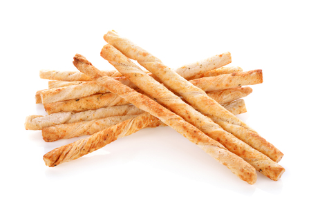 pretzel stick: pile of delicious pretzel sticks isolated on white background