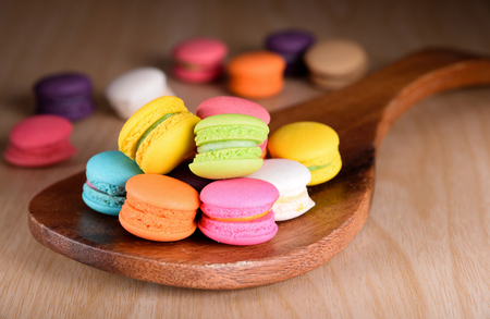 Fresh french colourful macaroons or macarons
