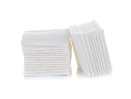 cotton cosmetic pad isolated on white