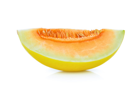 cantaloupe melon isolated on white Standard-Bild