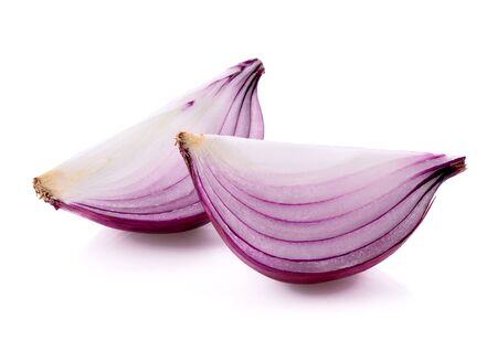 red onions isolated on white background 스톡 콘텐츠