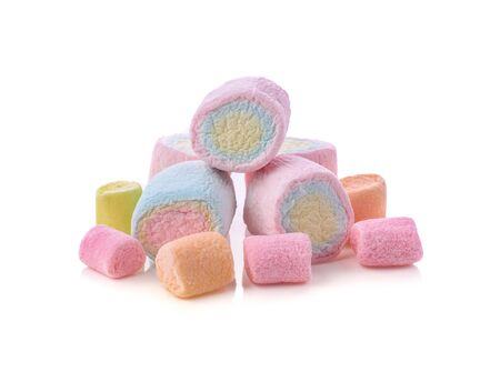 marshmallows isolated on white background. 免版税图像