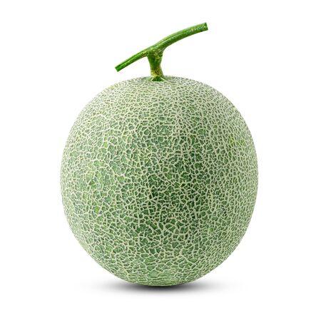 melón aislado sobre fondo blanco Foto de archivo