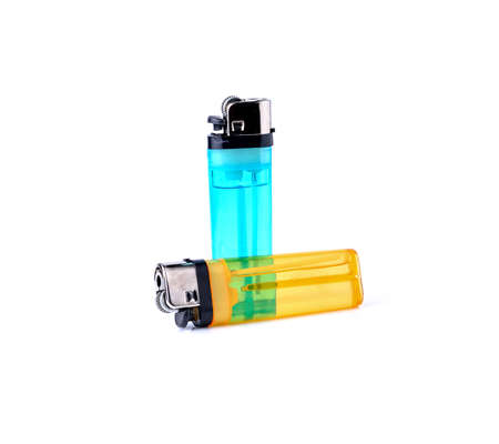Gas lighter isolated on white background