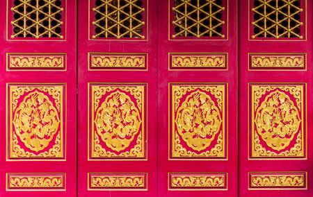 Golden Dragon Chinese door background