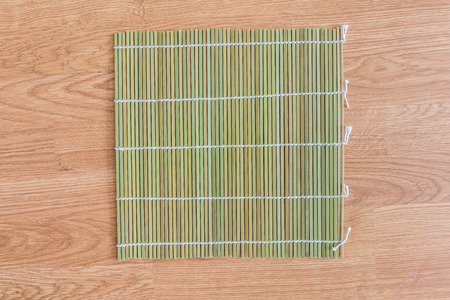 placemat: bamboo placemat straw wood on wooden background