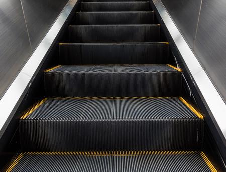 go inside: escalator in modern office building