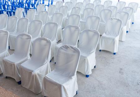 wedding chairs: Empty wedding chairs elegantly decorated