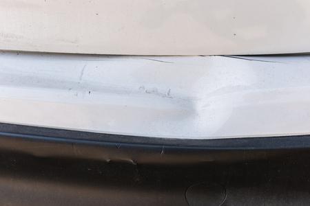 closeup of car crash, be hollow on the body car