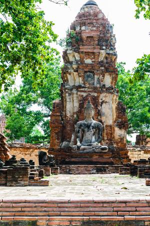 preferable: Principal Buddha, a beautiful ancient site in Wat Maha That Ayutthaya Stock Photo