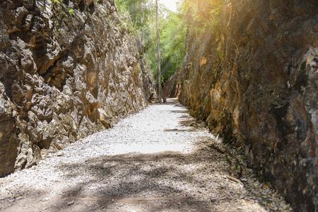 Hellfire pass, Death Railway - The Second World War memorial in Kanchanaburi, Thailand.