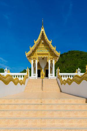 Chapel  of Wat Thipsukhontharam temple, Kanchanaburi province,Thailand, Phra Buddha Metta,They are public domain or treasure of Buddhism