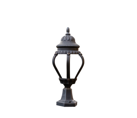 vintage furniture: Old vintage lamp isolated on white background with clipping path