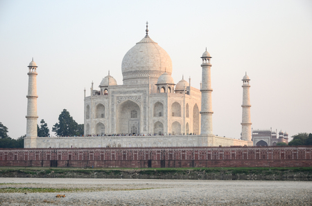 outside view of Taj Mahal, India