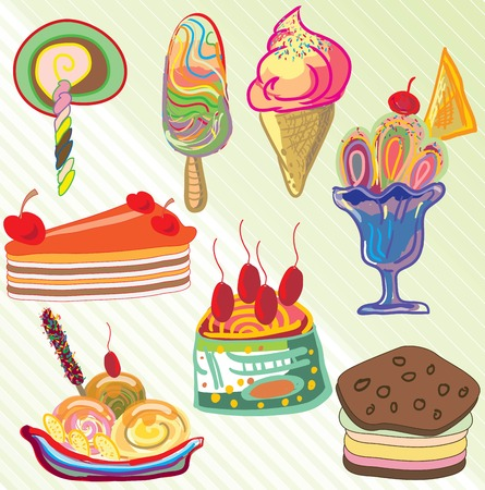 cartoon design an ice cream vector Vector