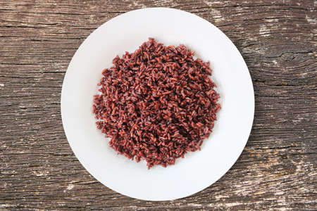 Thai riceberry organic food for good heath.Riceberry rice is rich in many antioxidant and high in fiber.